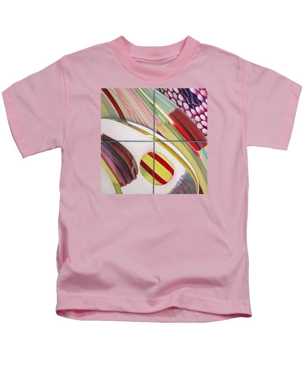 Abstract Kids T-Shirt featuring the painting Sens by Muriel Dolemieux