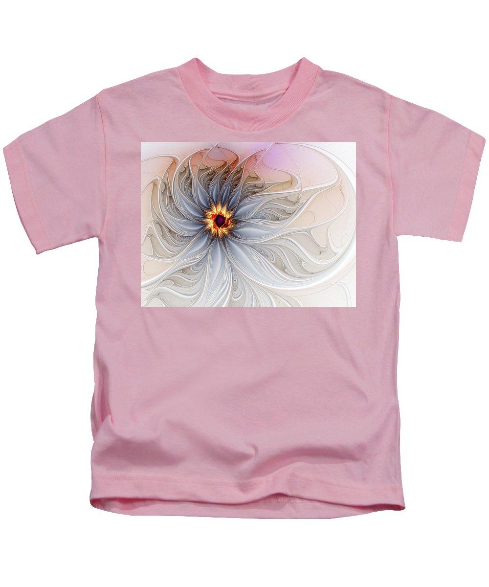 Digital Art Kids T-Shirt featuring the digital art Serenely Blue by Amanda Moore