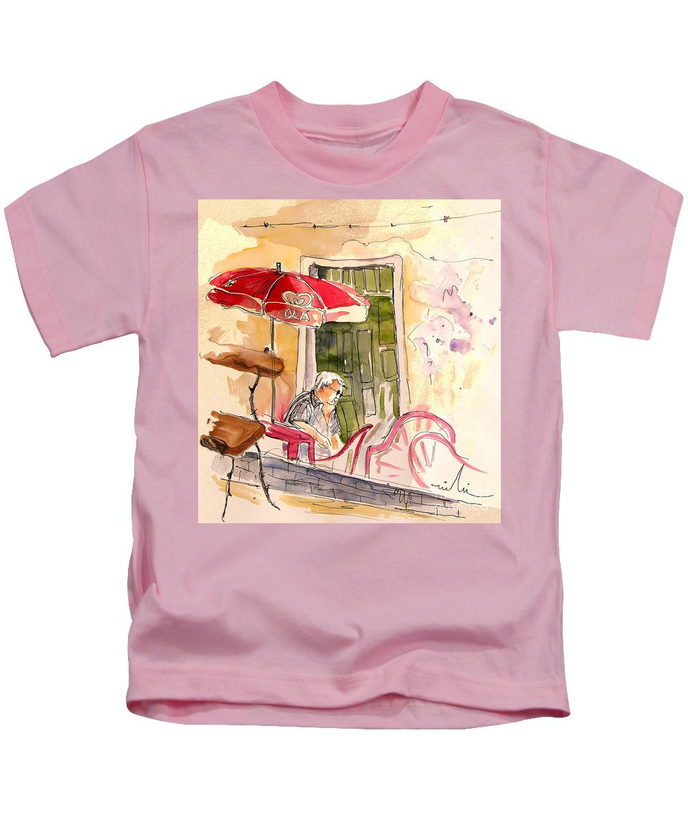 Portugal Paintings Kids T-Shirt featuring the painting Serpa Portugal 23 by Miki De Goodaboom
