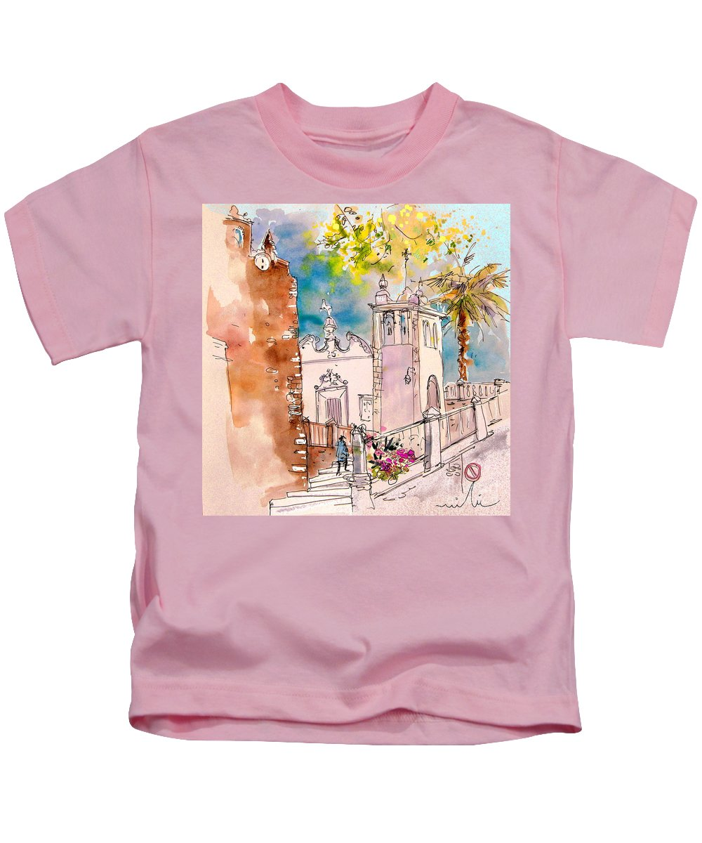Water Colour Painting Serpa Portugal Kids T-Shirt featuring the painting Serpa Portugal 31 by Miki De Goodaboom