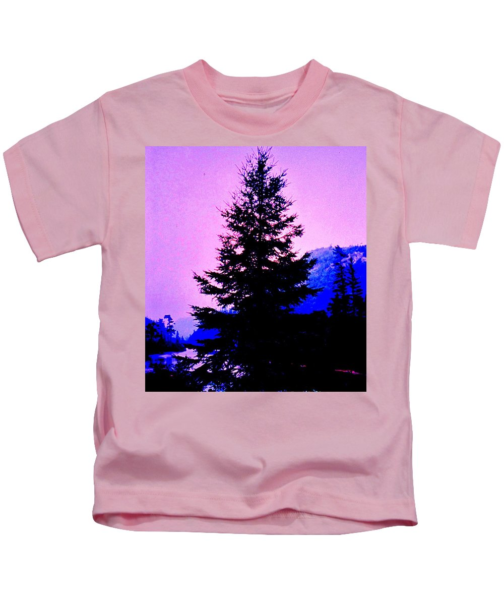 Agawa Kids T-Shirt featuring the photograph Shadows In The Canyon by Ian MacDonald