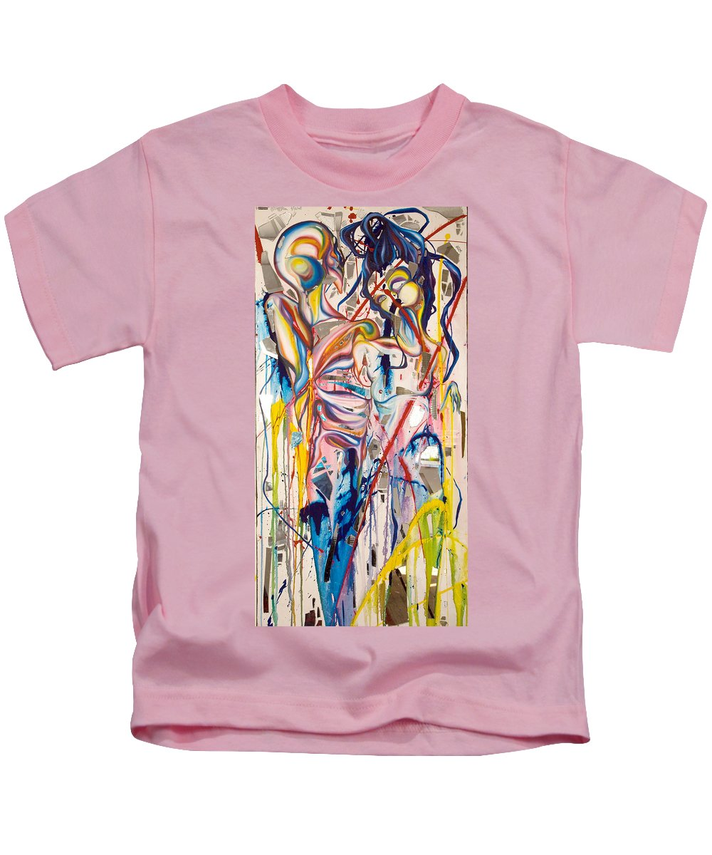 Abstract Kids T-Shirt featuring the painting Shards by Sheridan Furrer