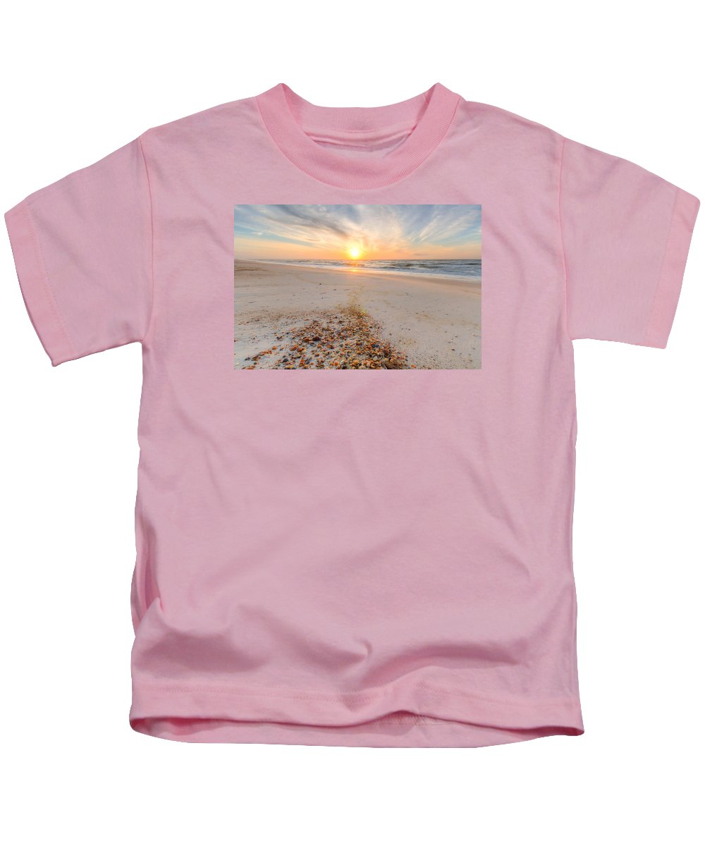 Clouds Kids T-Shirt featuring the photograph Shell Point by Gary Oliver
