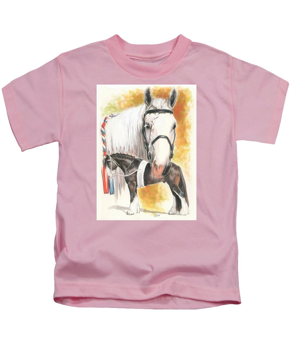 Shire Kids T-Shirt featuring the mixed media Shire by Barbara Keith