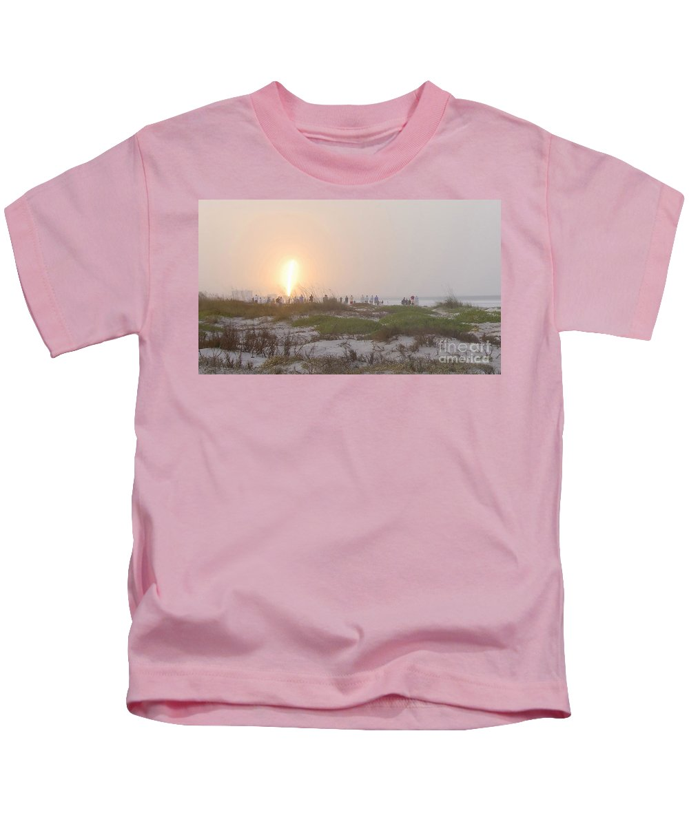 Shuttle Launch Kids T-Shirt featuring the photograph Shuttle Launch by David Lee Thompson