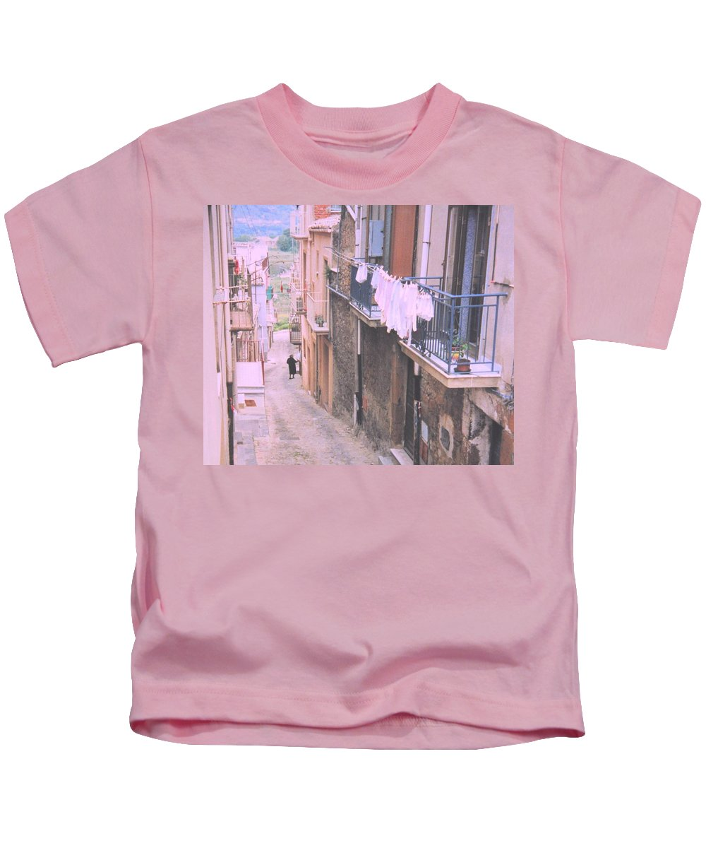 Sicily Kids T-Shirt featuring the photograph Sicily by Ian MacDonald