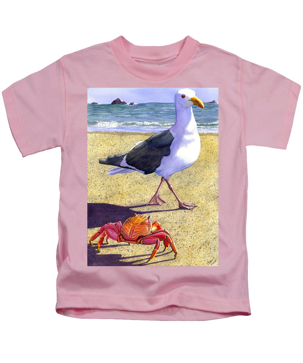 Crab Kids T-Shirt featuring the painting Side Stepping by Catherine G McElroy