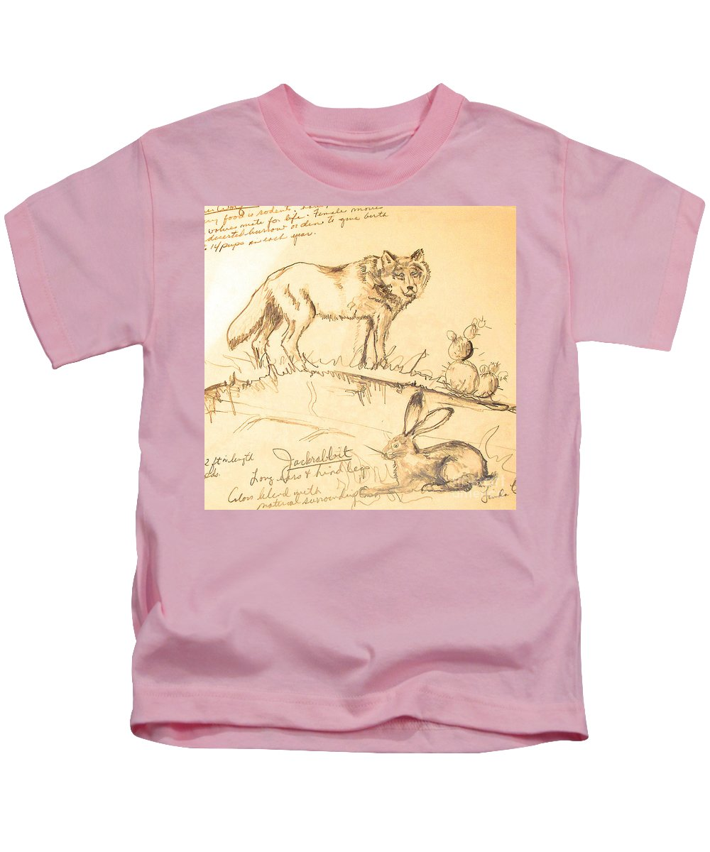 Sketches Kids T-Shirt featuring the drawing Sketches For Sale by Linda Shackelford