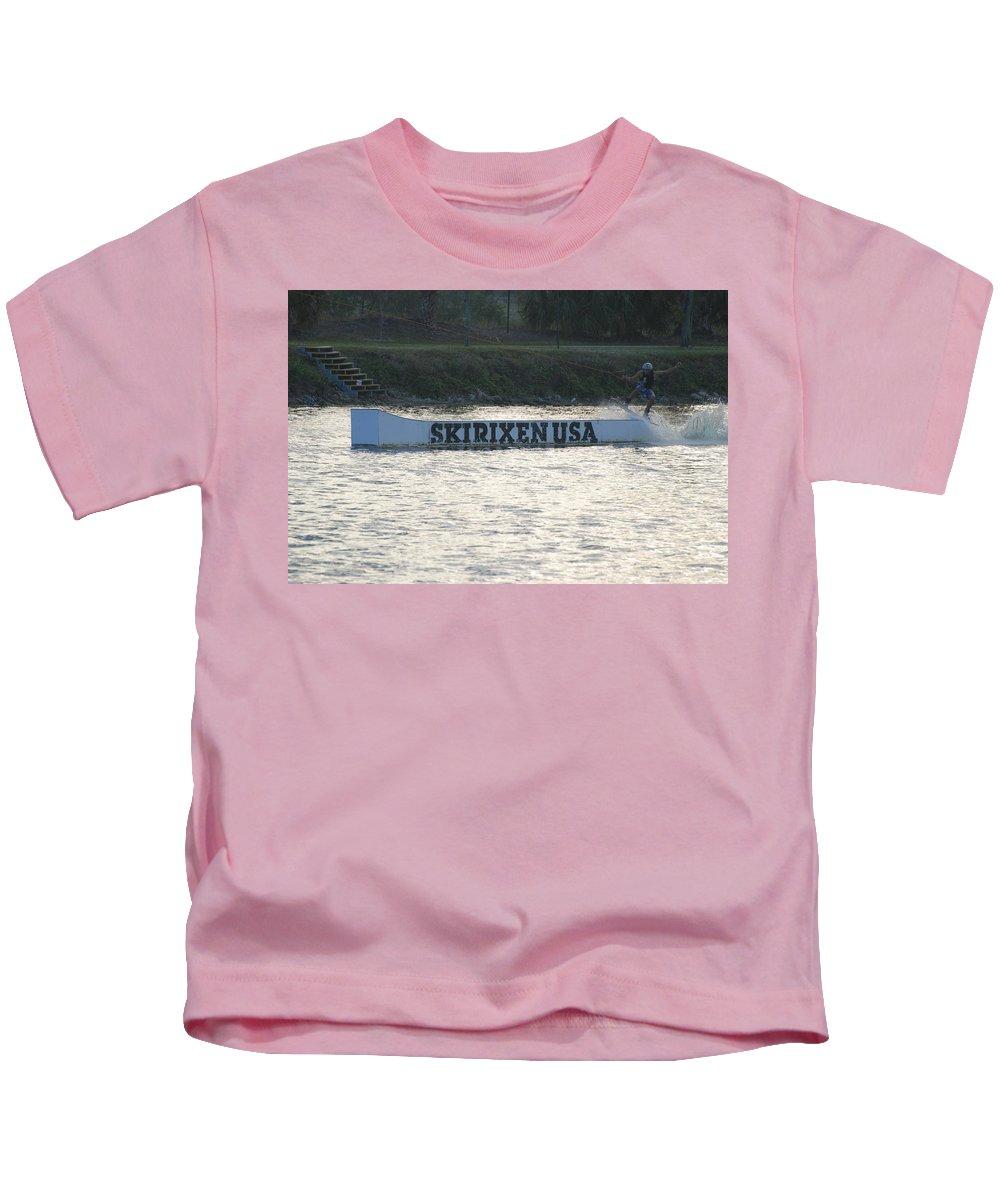 Waves Kids T-Shirt featuring the photograph Skirixen Usa by Rob Hans