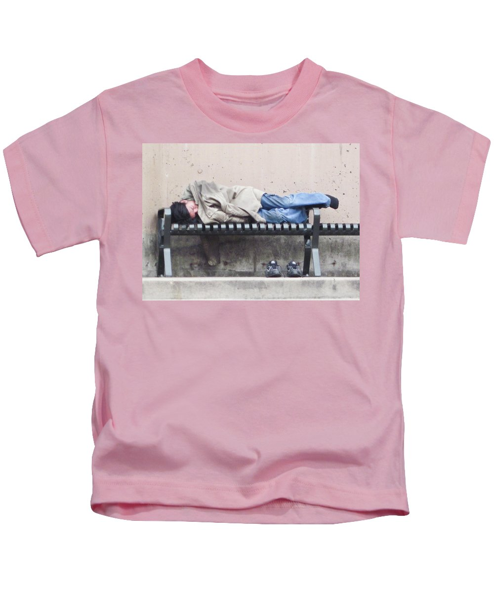 Sleeping Kids T-Shirt featuring the photograph Sleeping Lady by Angus Hooper Iii