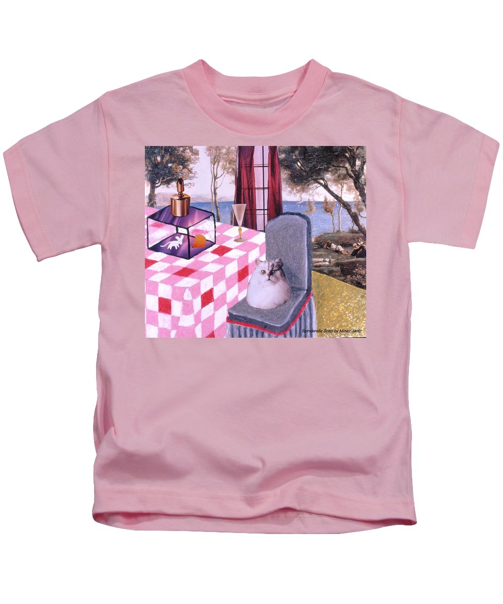 Cat Kids T-Shirt featuring the drawing Soap Scene #14 Mouse In A Cage by Minaz Jantz