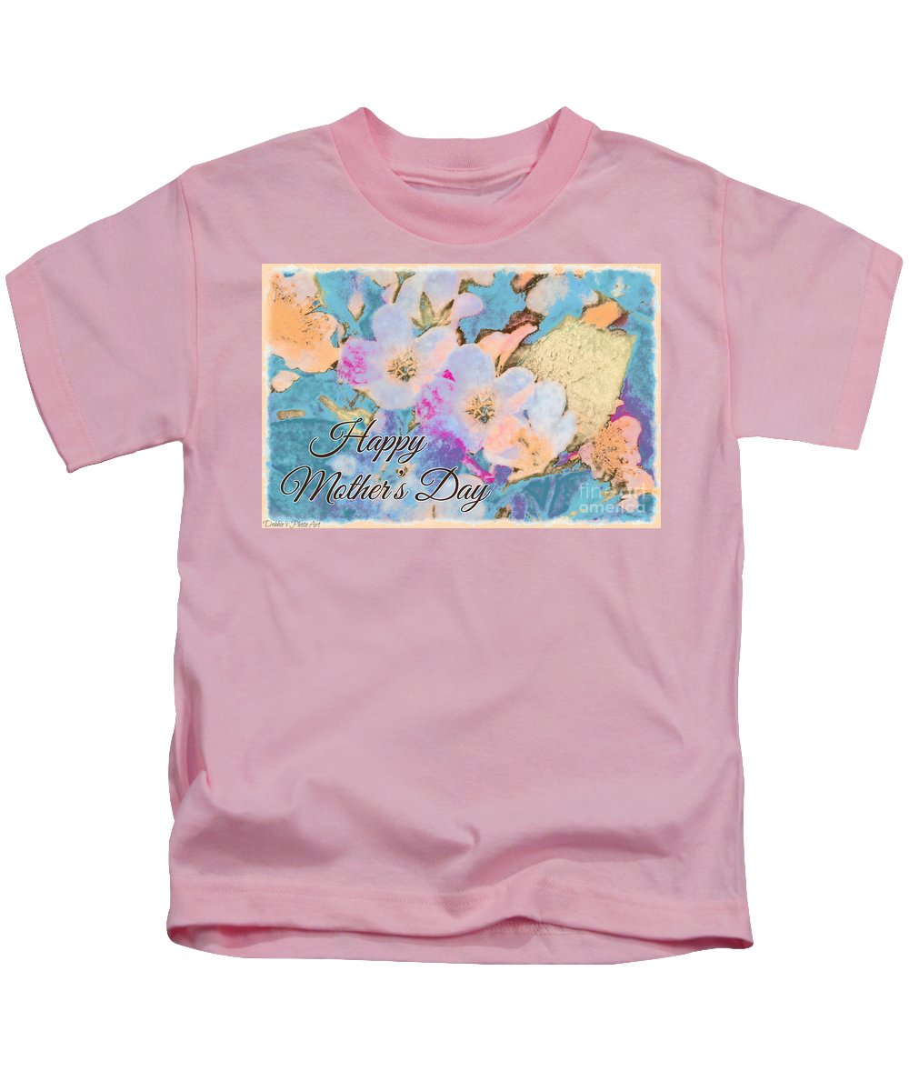 Tiny Kids T-Shirt featuring the photograph Southern Missouri Wildflowers -1 Mother's Day Card by Debbie Portwood