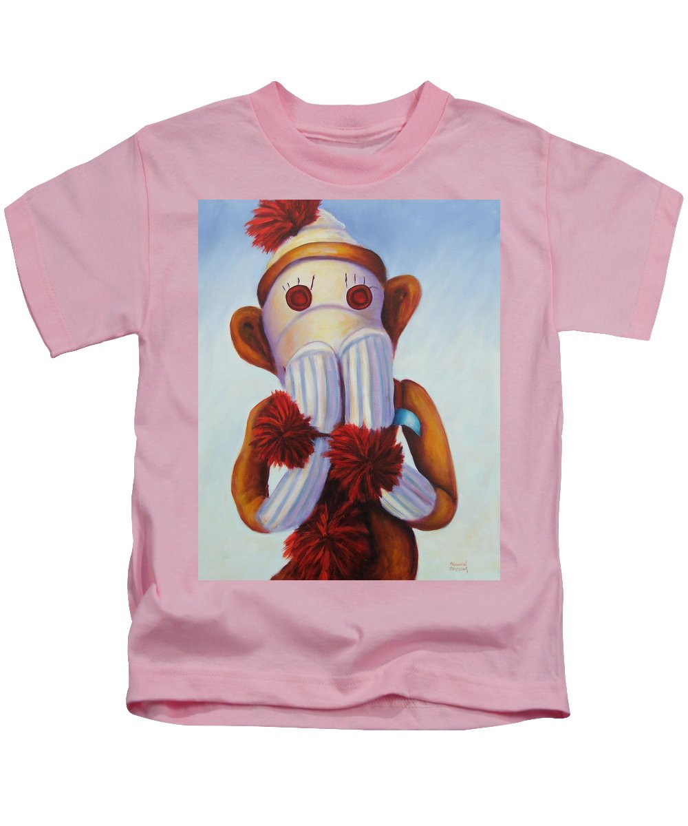 Children Kids T-Shirt featuring the painting Speak No Bad Stuff by Shannon Grissom