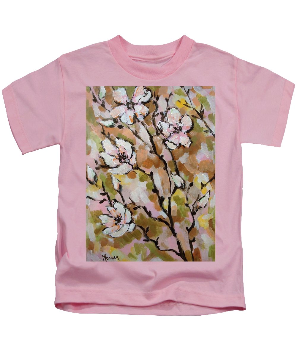 Spring Flowers Kids T-Shirt featuring the painting Spring Mood by Cathy MONNIER