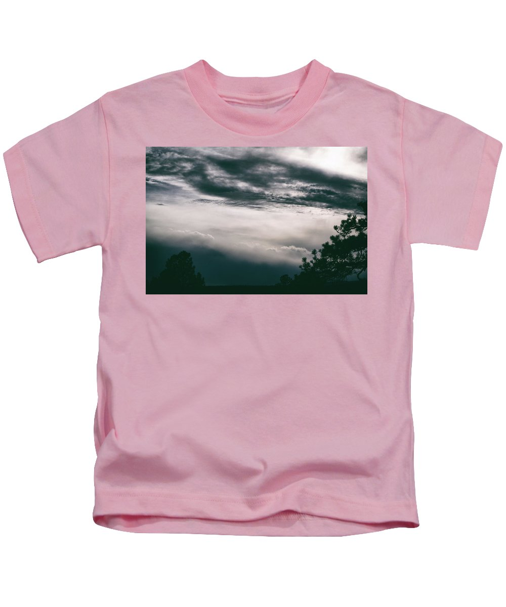 Nature Kids T-Shirt featuring the photograph Spring Storm Cloudscape by Jason Coward