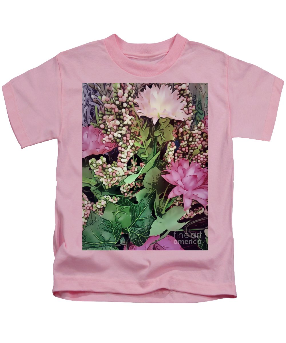 200 Views Kids T-Shirt featuring the photograph Springtime With Flowers by Jenny Revitz Soper