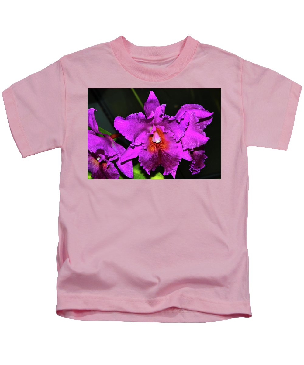 Purple Kids T-Shirt featuring the photograph Star Of Bethlehem Orchid 006 by George Bostian