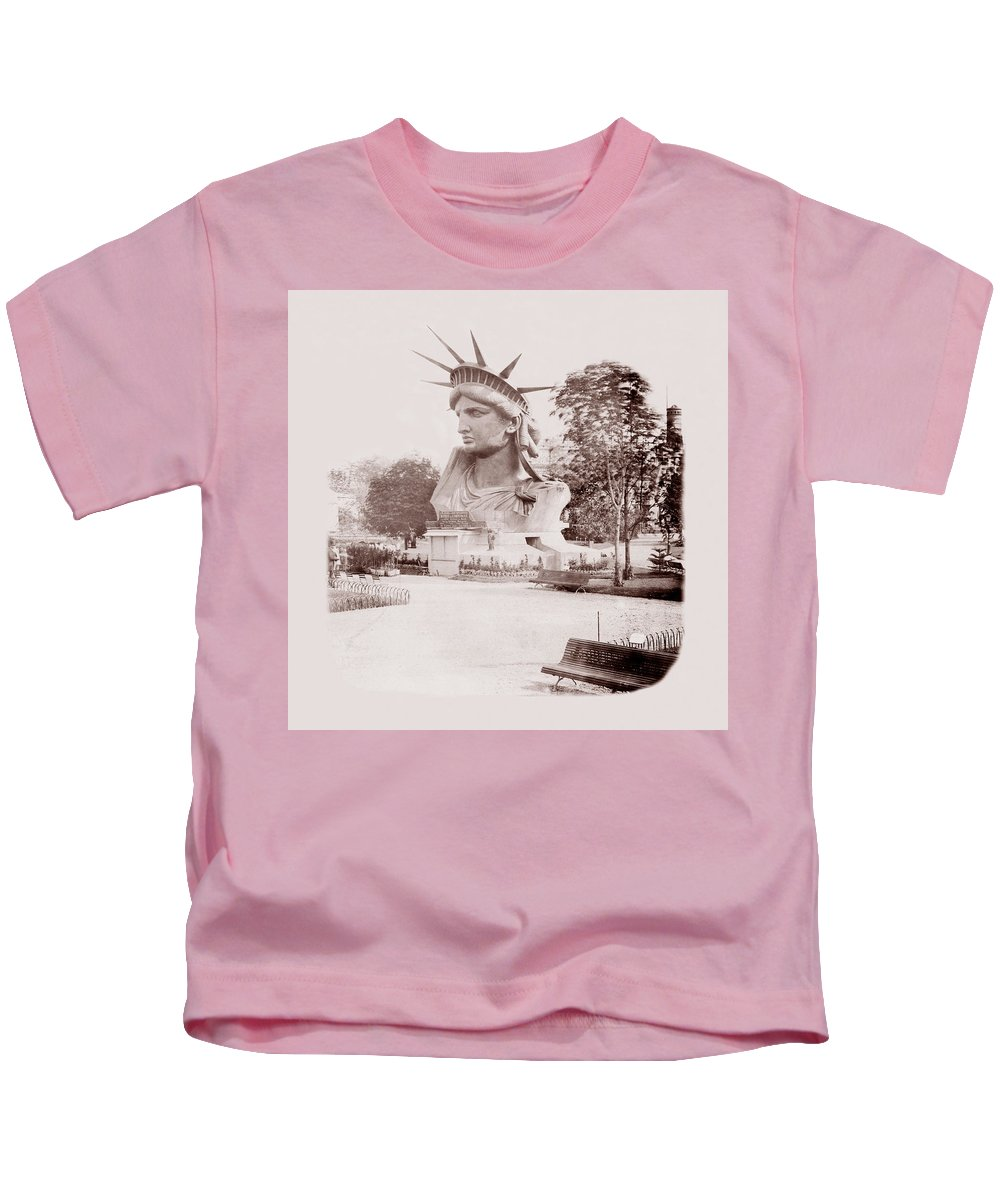 Statue Of Liberty Kids T-Shirt featuring the photograph Statue Of Liberty 1883 by Andrew Fare