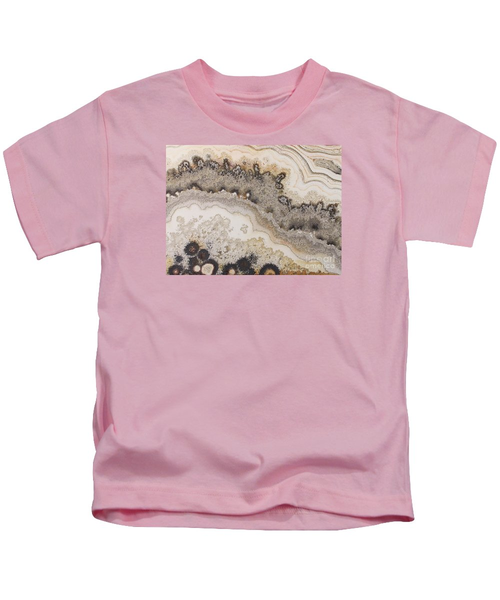 Lace Agate Kids T-Shirt featuring the photograph Stone Vision Corral - C by Daniel Bontempo