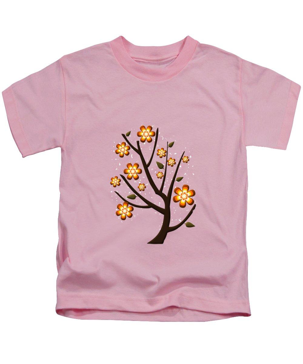 Greeting Card Kids T-Shirt featuring the digital art Strange Season by Anastasiya Malakhova