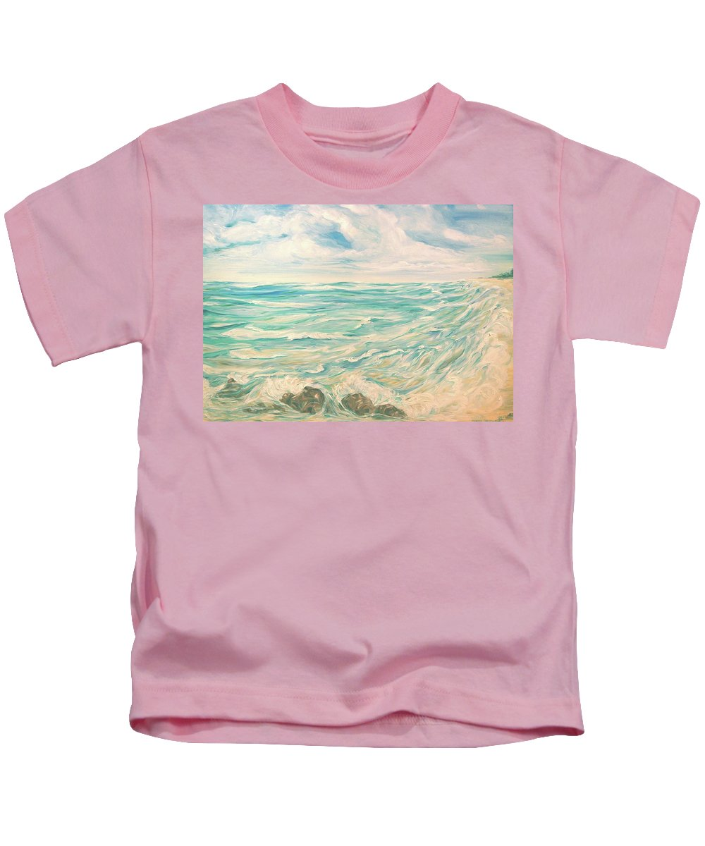 Ocean Kids T-Shirt featuring the painting Study Of Tropical Blue by Jennifer Christenson