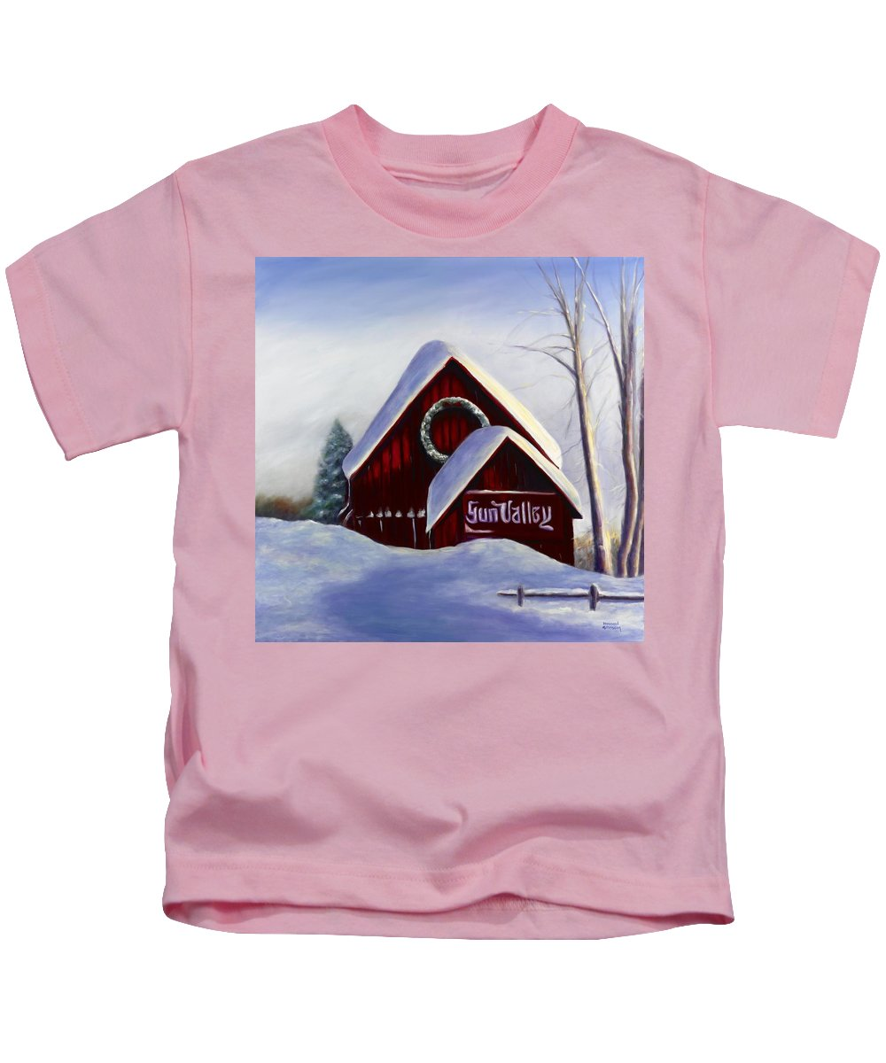 Landscape Kids T-Shirt featuring the painting Sun Valley 3 by Shannon Grissom