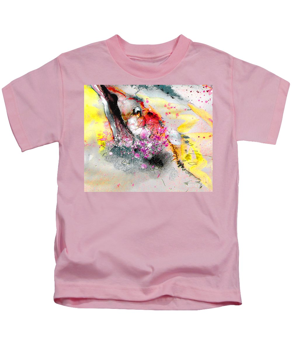 Pastel Painting Kids T-Shirt featuring the painting Sunday By The Tree by Miki De Goodaboom