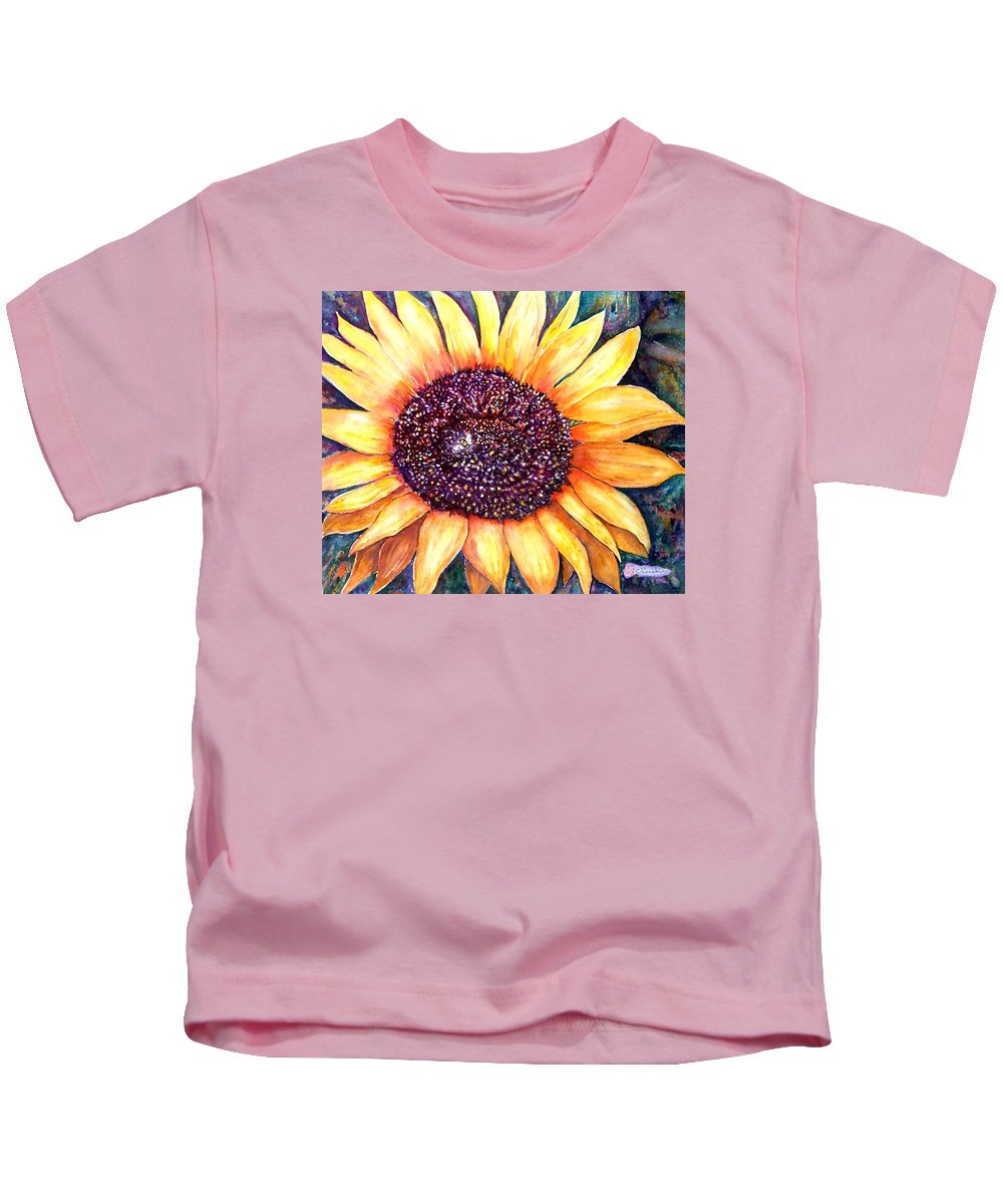Sunflower Kids T-Shirt featuring the painting Sunflower Of Georgia by Norma Boeckler