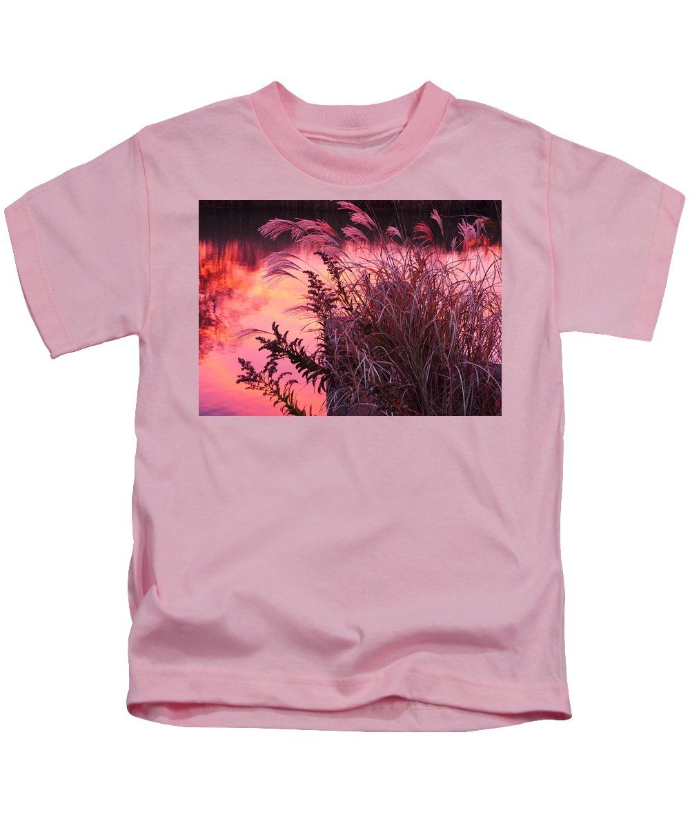 Sunset Kids T-Shirt featuring the photograph Sunset On The Canal by Jack Riordan