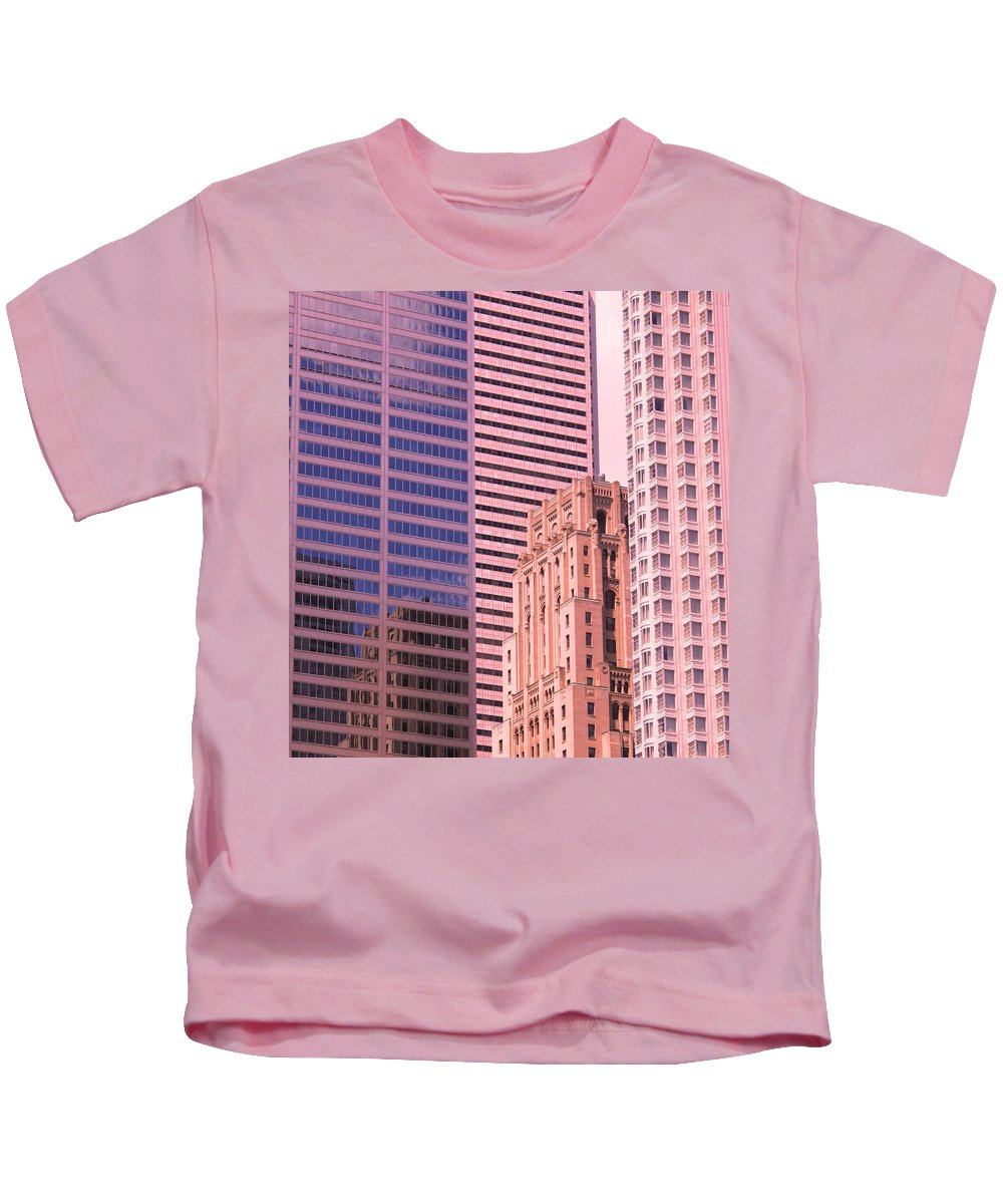 Office Buildings Kids T-Shirt featuring the photograph Surrounded by Ian MacDonald