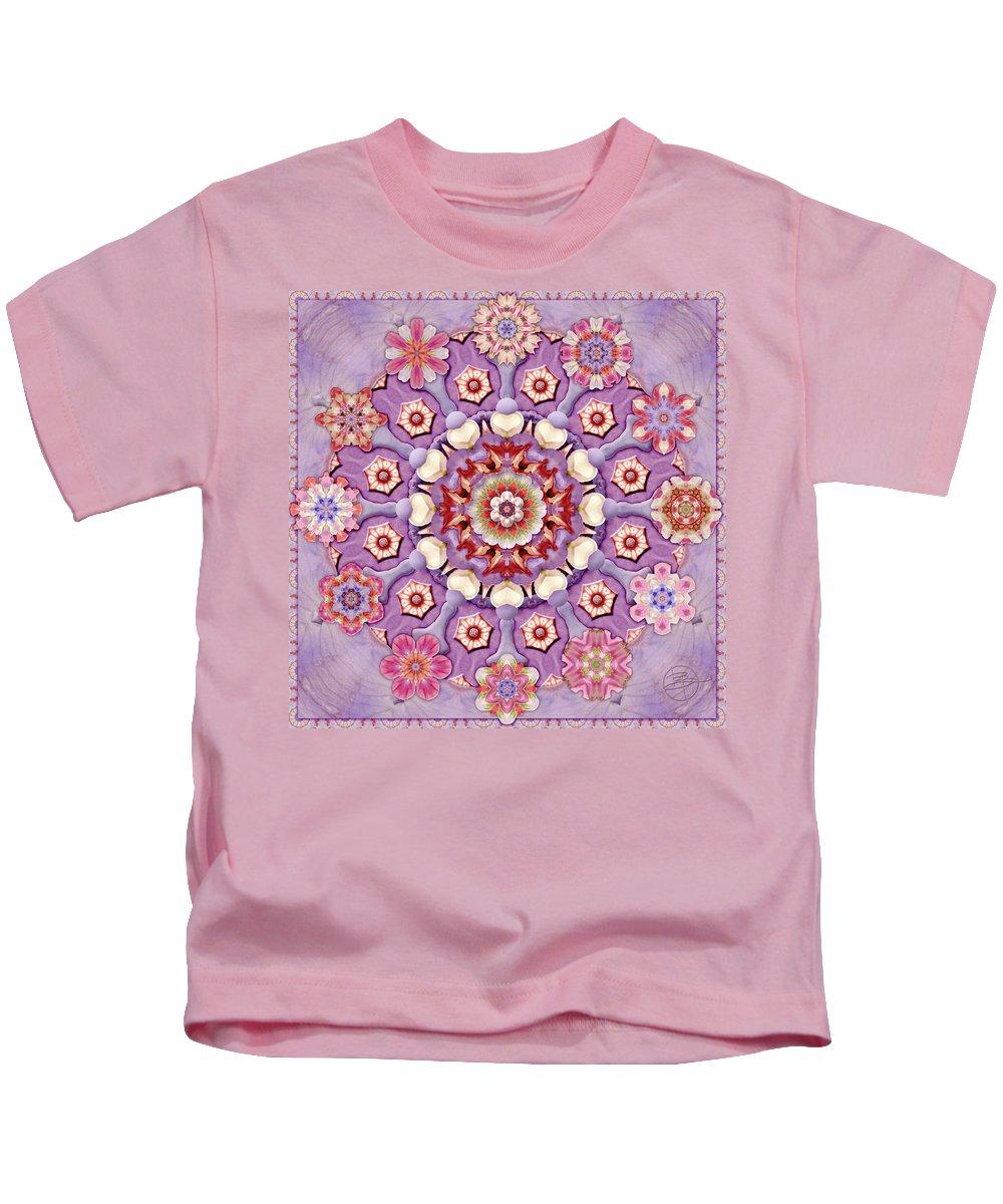 Karen Hochman Brown Kids T-Shirt featuring the photograph Sweet Pea Iris Frivolity by Karen Hochman Brown