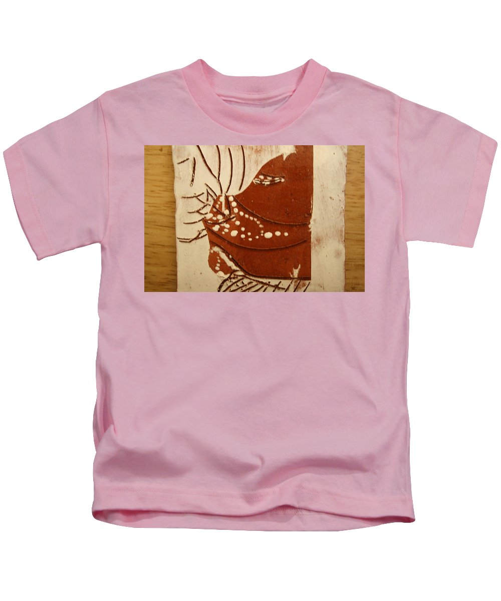 Jesus Kids T-Shirt featuring the ceramic art Sweethearts 7 - Tile by Gloria Ssali