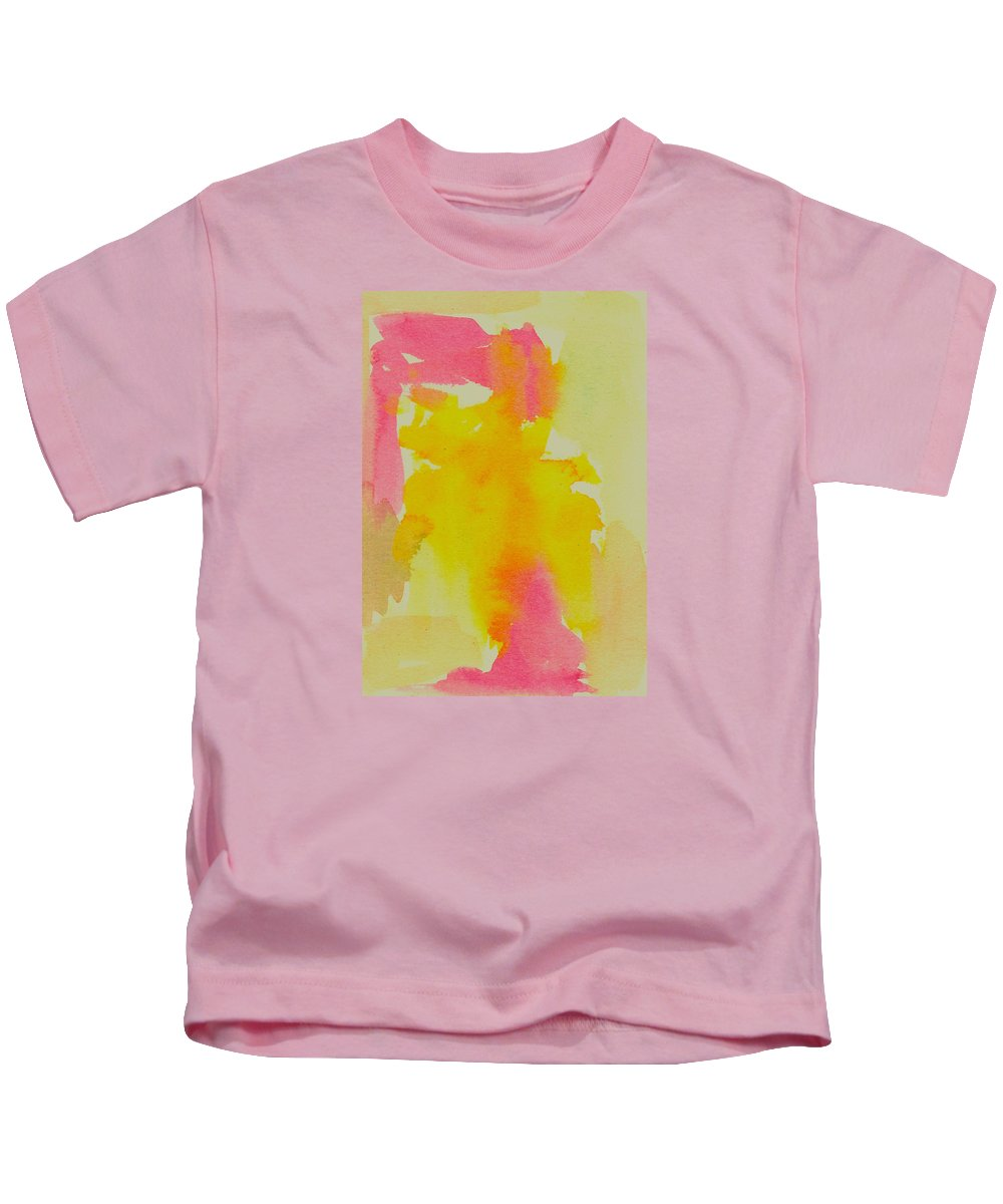 Yellow Kids T-Shirt featuring the painting Sweets by Marcy Brennan