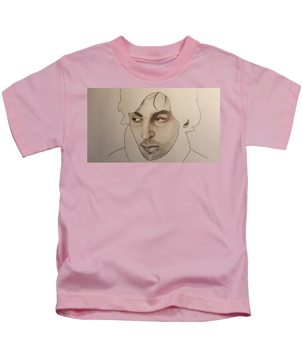 Kids T-Shirt featuring the drawing Syd The Crazy Diamond by Van Klein