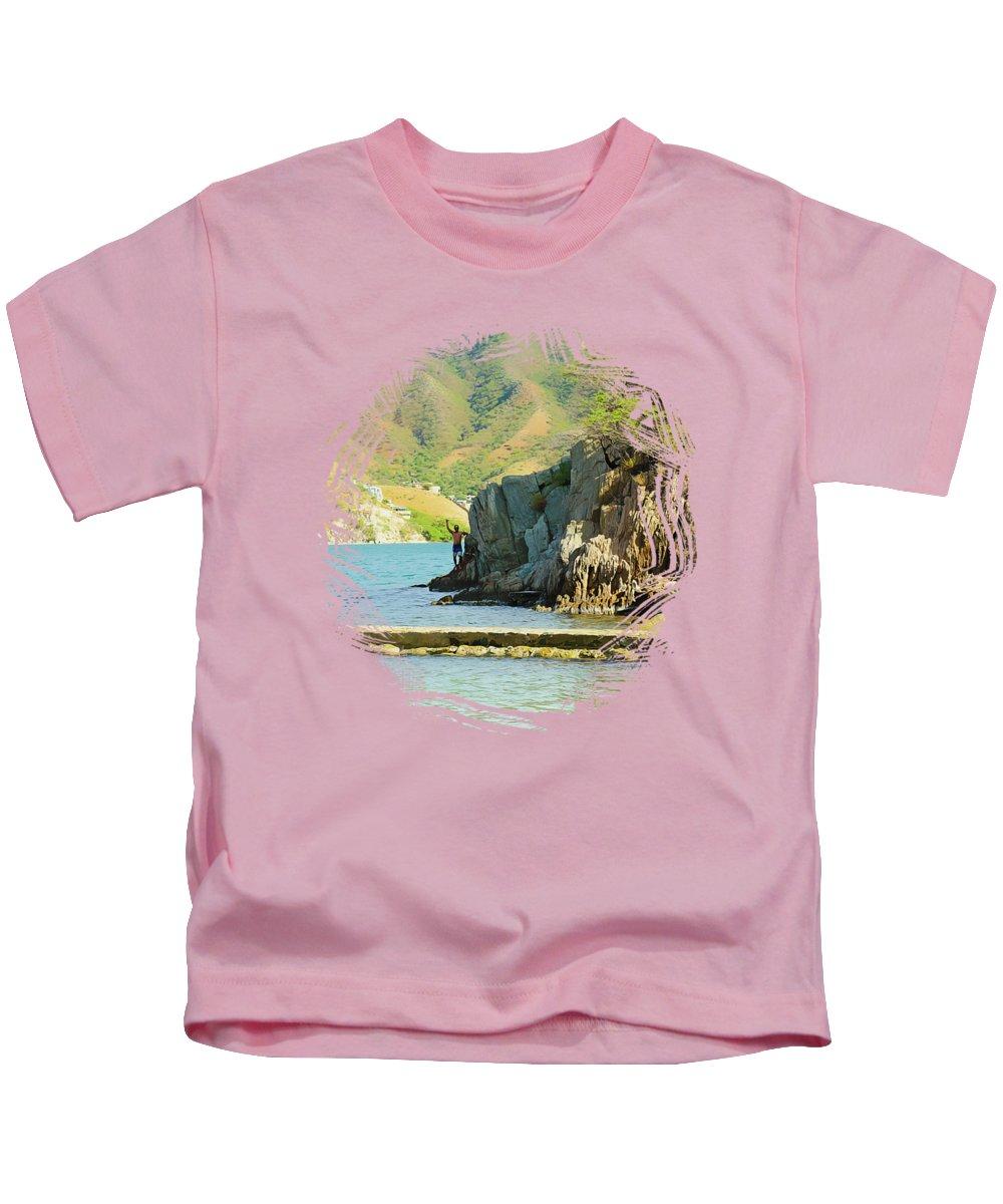Beach Kids T-Shirt featuring the photograph Taganga Beach by Stefanie Juliette
