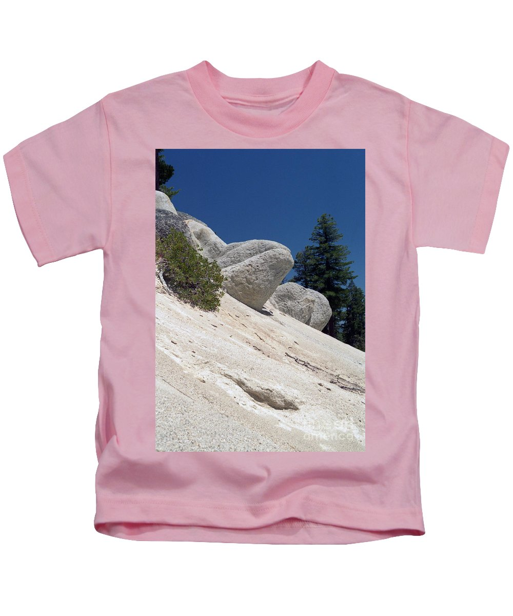 Abstract Kids T-Shirt featuring the photograph Tahoe Rocks by Richard Rizzo