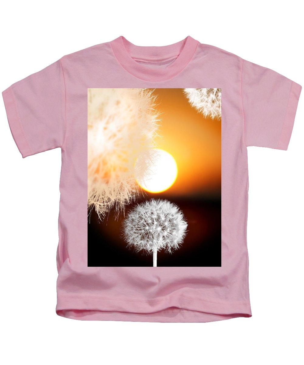 Taraxacum Kids T-Shirt featuring the photograph Taraxacum Sunset by Mal Bray