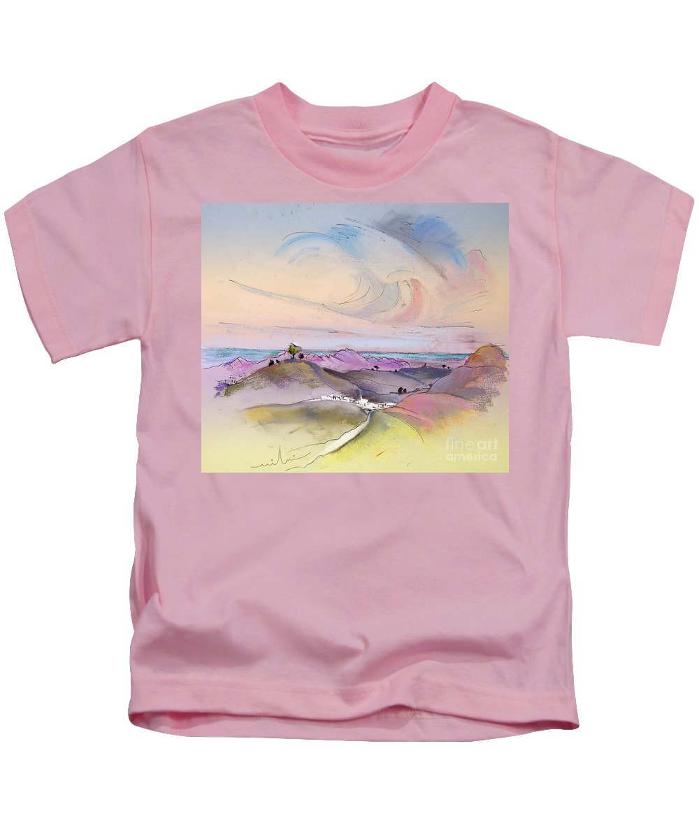 Tarbena Painting Kids T-Shirt featuring the painting Tarbena 07 by Miki De Goodaboom