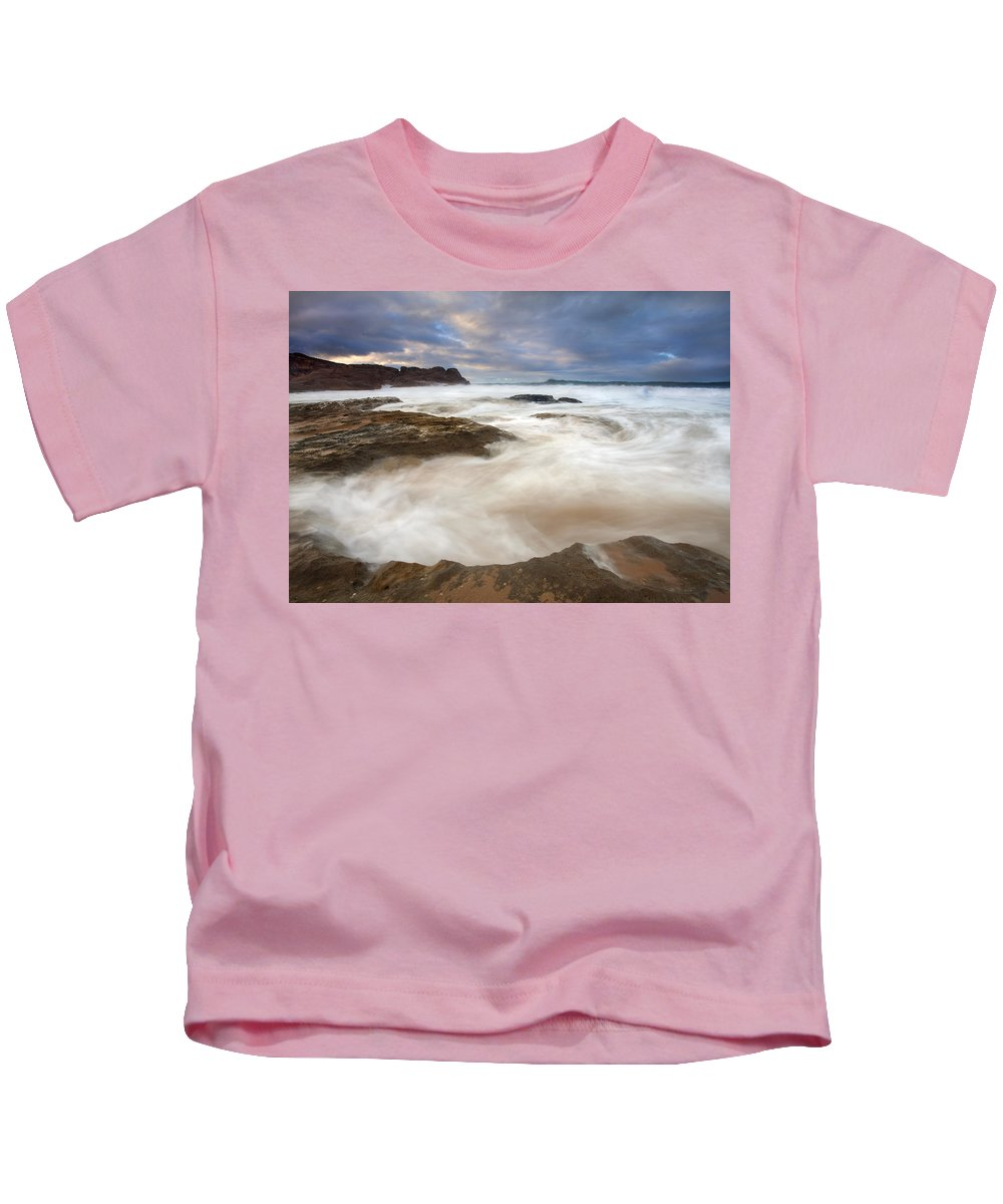 Bowl Kids T-Shirt featuring the photograph Tempestuous Sea by Mike Dawson