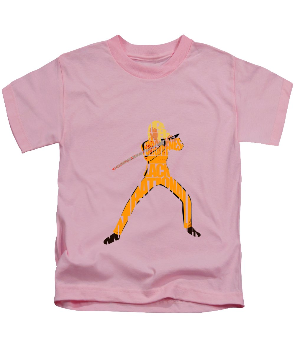 Kill Bill Kids T-Shirt featuring the digital art The Bride by Inspirowl Design