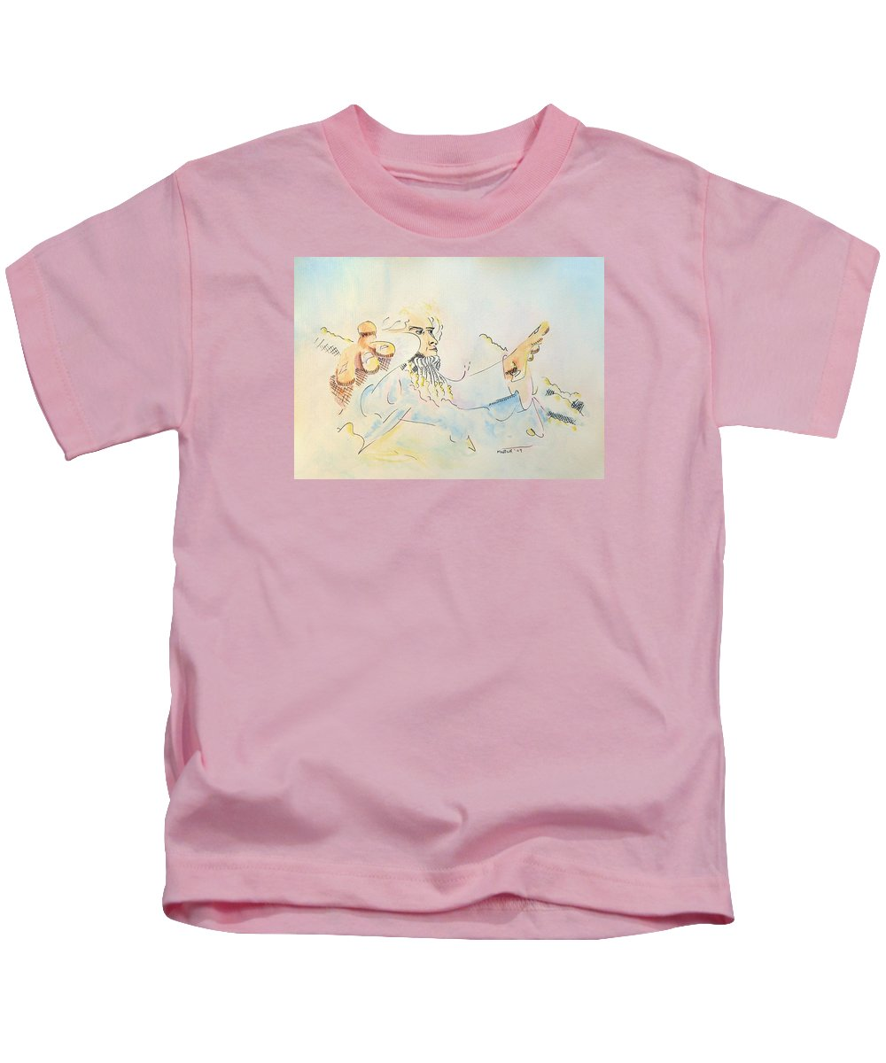 Music Kids T-Shirt featuring the painting The Conductor by Dave Martsolf