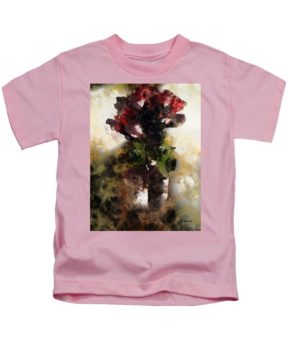 Semi-abstract Kids T-Shirt featuring the painting The Death Of Innocence by RC DeWinter