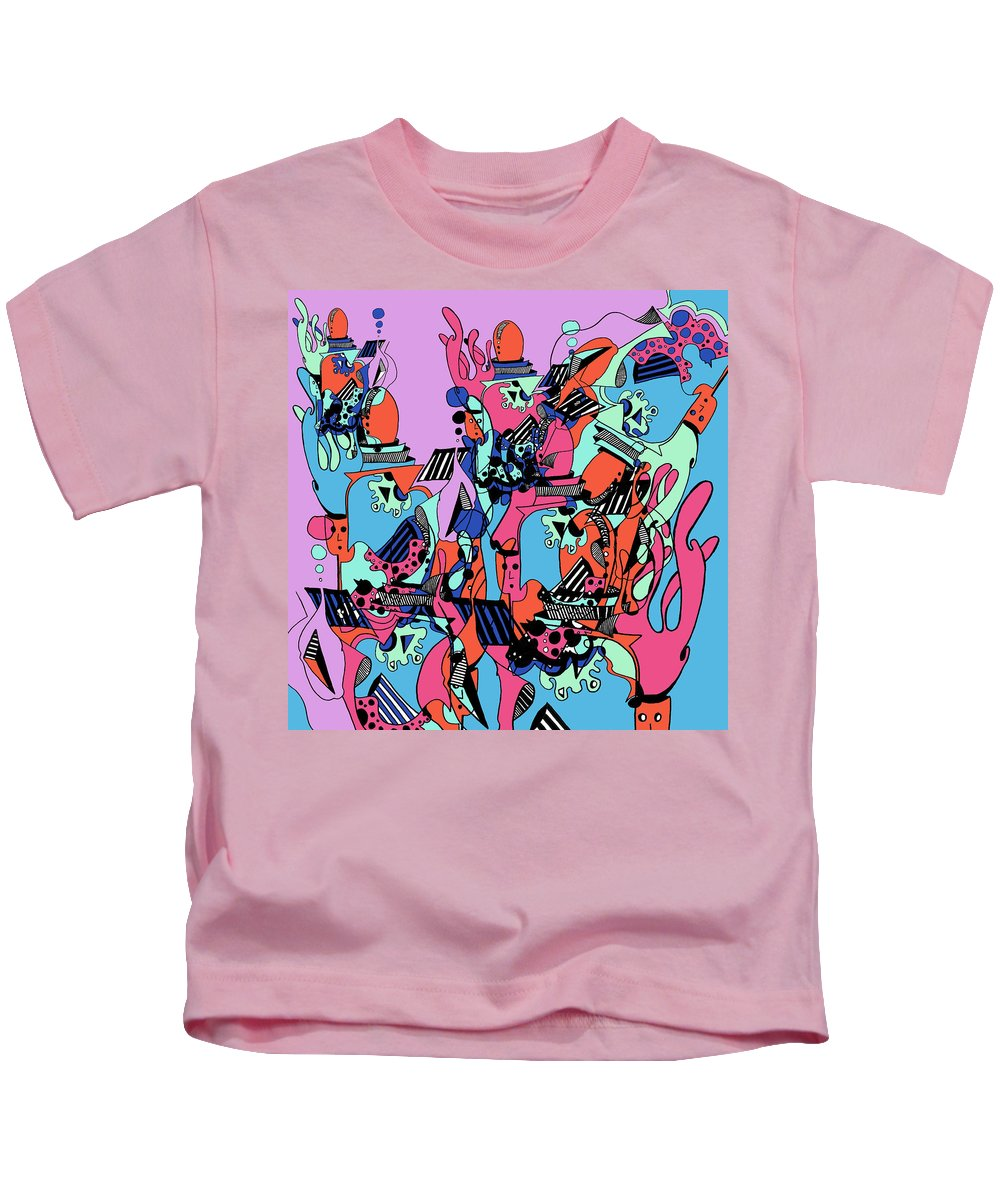 Kids T-Shirt featuring the digital art The Factory by Kenneth Greene