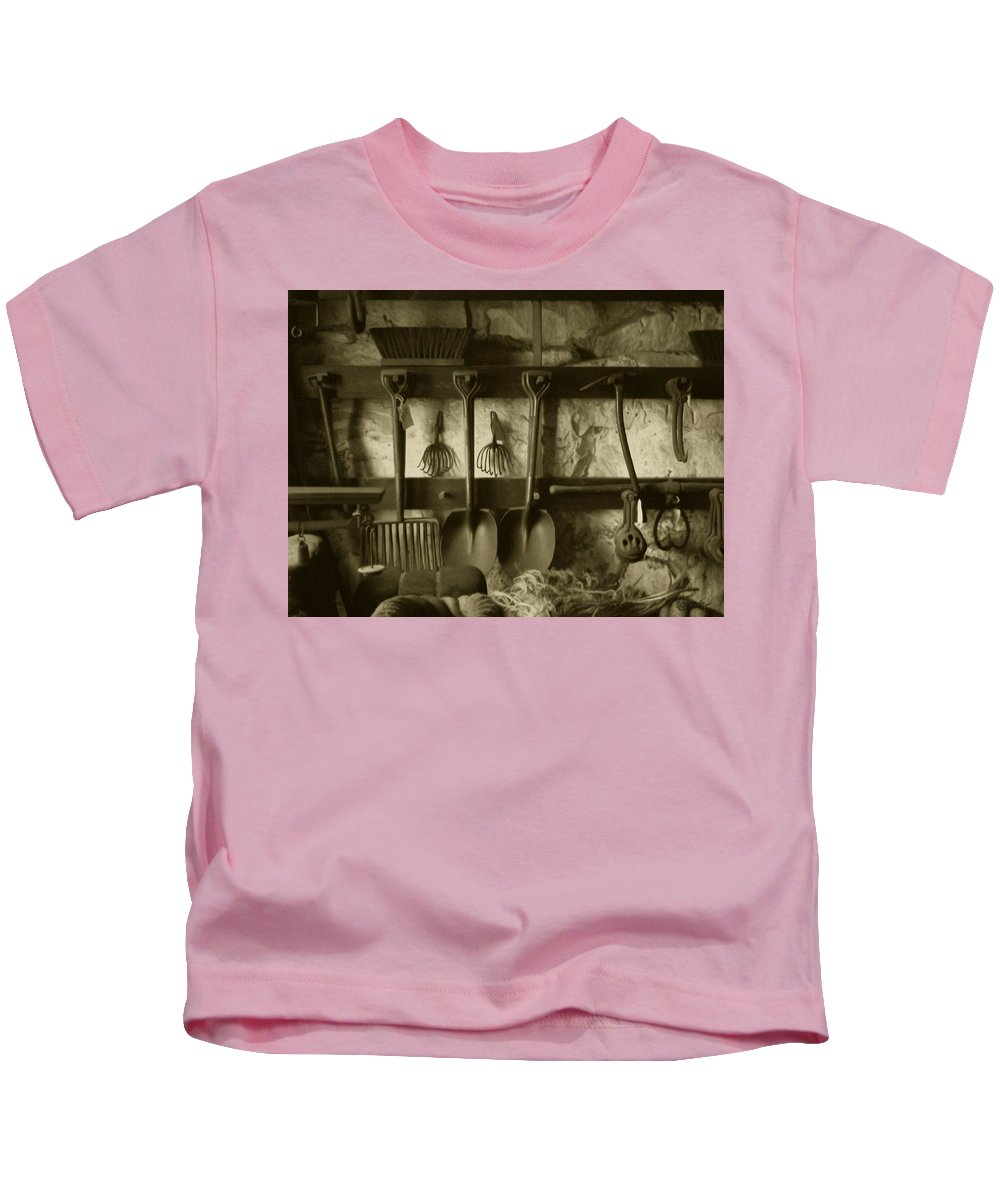 Farming Kids T-Shirt featuring the photograph The Farmer's Toolshed by RC DeWinter