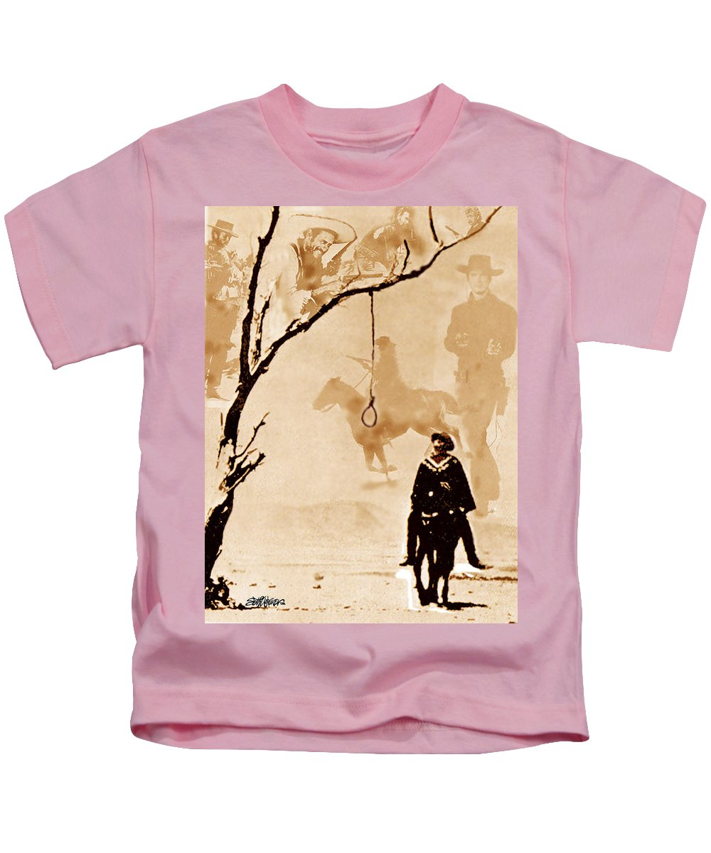 Clint Eastwood Kids T-Shirt featuring the digital art The Hangman's Tree by Seth Weaver