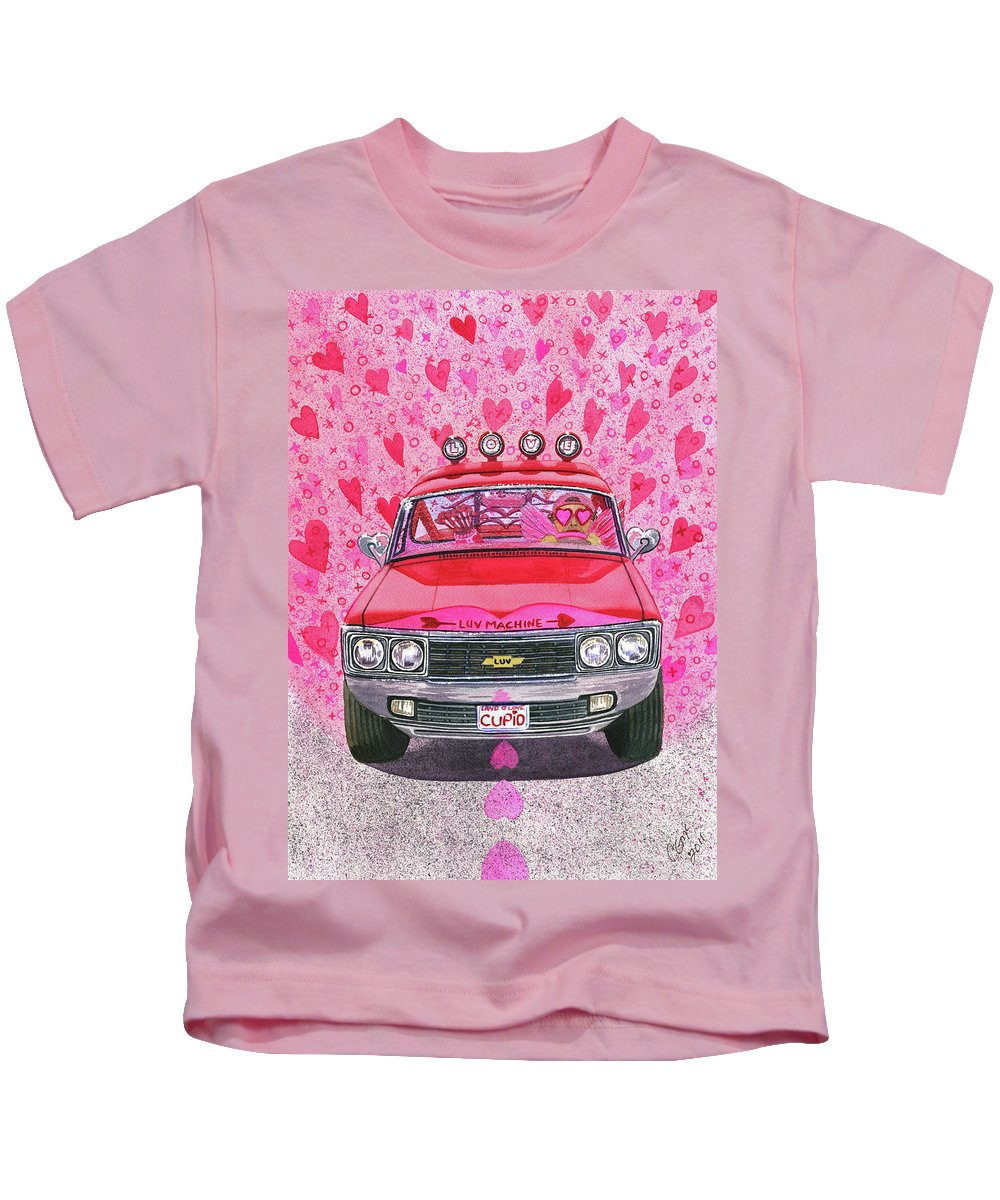 Luv Kids T-Shirt featuring the painting The Luv Machine by Catherine G McElroy