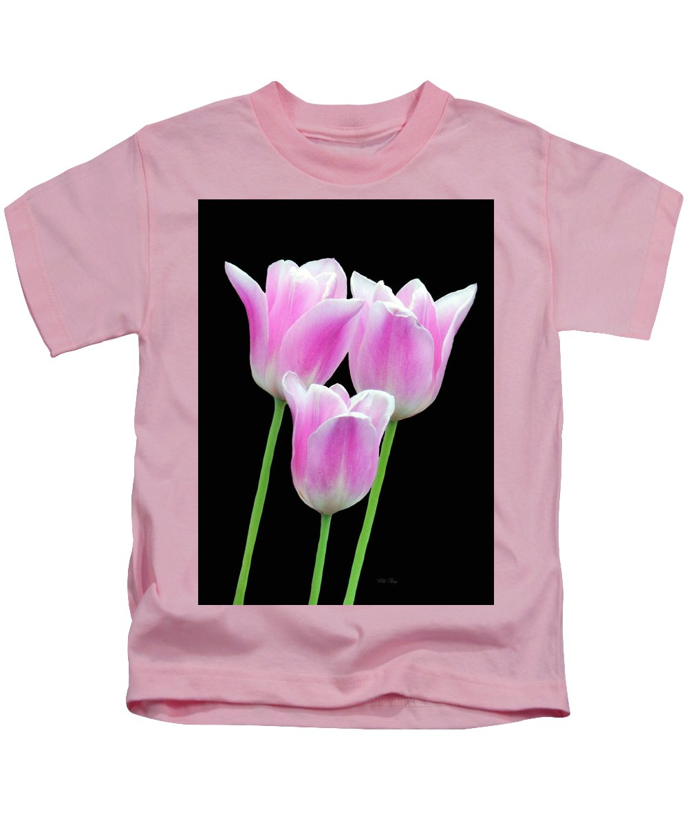 Spring Kids T-Shirt featuring the photograph The Magick Of Pink by Wild Thing