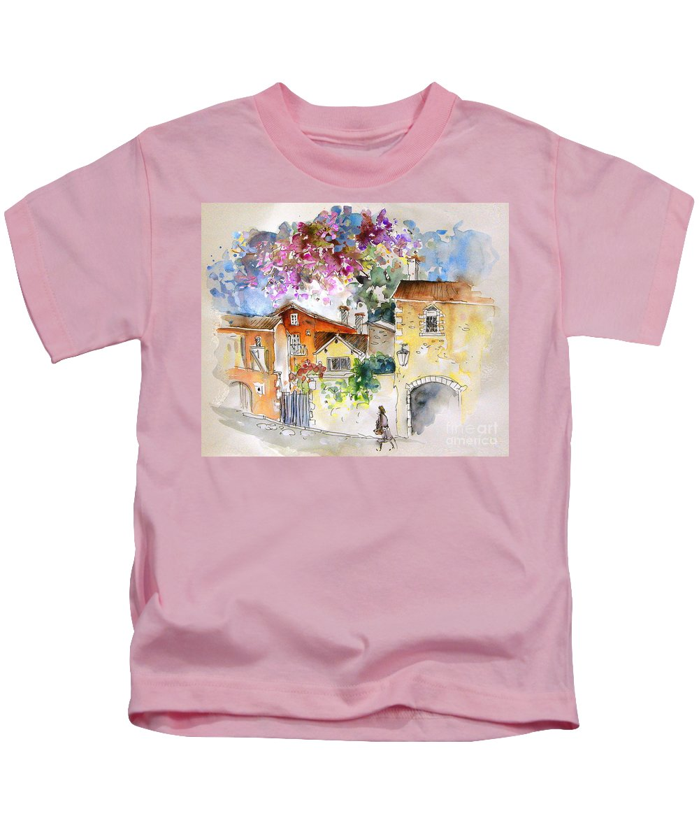 France Paintings Kids T-Shirt featuring the painting The Perigord In France by Miki De Goodaboom