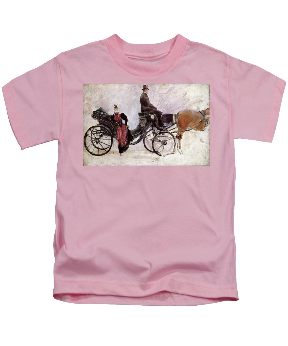 The Kids T-Shirt featuring the painting The Victoria by Jean Beraud