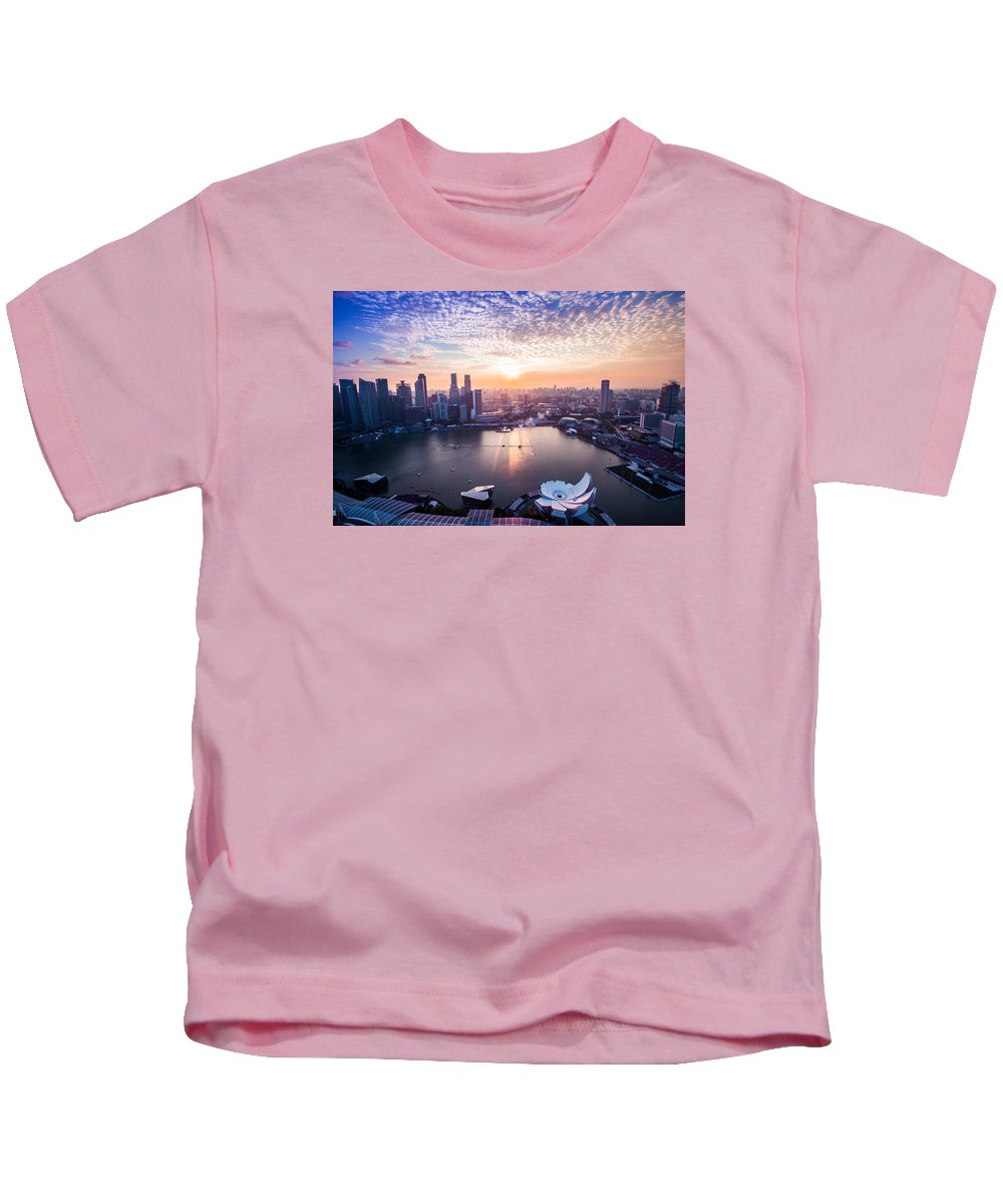 Realismexodus Kids T-Shirt featuring the photograph Touch Of Warm Hues by Realism Exodus